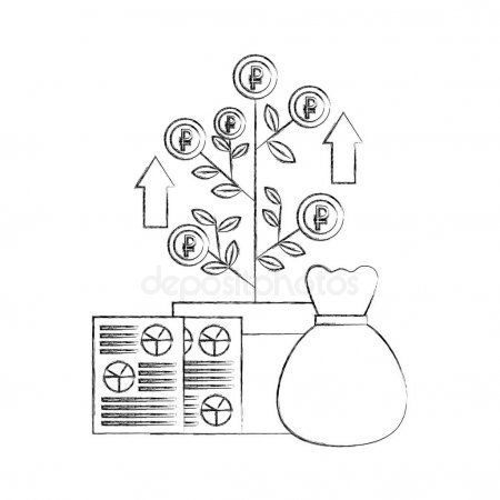 Money Bag Document Plant Growth Coins Report Foreign Exchange Stock Vec Ad Bag Coins Document Exchange Foreign Growt Money Bag Plant Growth Coins