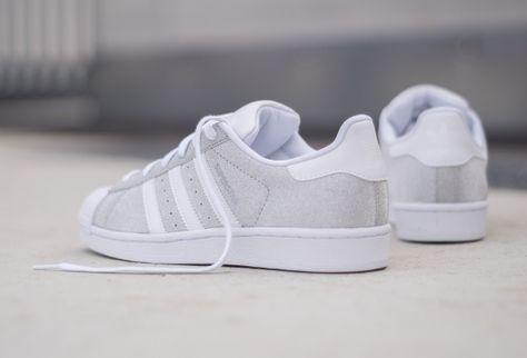 Des paillettes argentées pour la Adidas Superstar W | Adidas ...