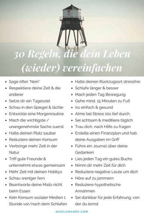 30 Regeln, die dein Leben (wieder) vereinfachen - #dein #Die #Leben #management #Regeln #vereinfachen #wieder