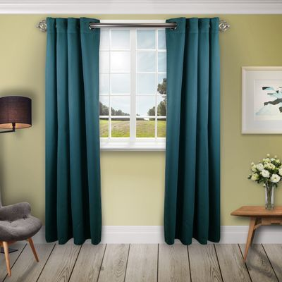 Turquoise Room Darkening 52 Curtain Turquoise Room Living Room