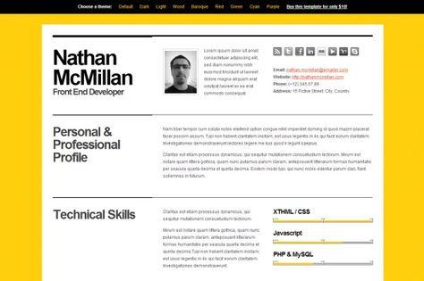 Bold CV\/Resume Template Online CV Pinterest Online Cv, Cv   Resume Template  Online Resume Templates