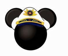 Siluetas de la cabeza de Mickey y Minnie con gorro marinero. | Ideas y material gratis para fiestas y celebraciones Oh My Fiesta!