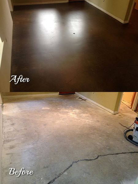 Honed Concrete Sealed With Creto Dps Stained With A Water Based Concrete Stain And Top C Water Based Concrete Stain Stained Concrete Painted Concrete Floors
