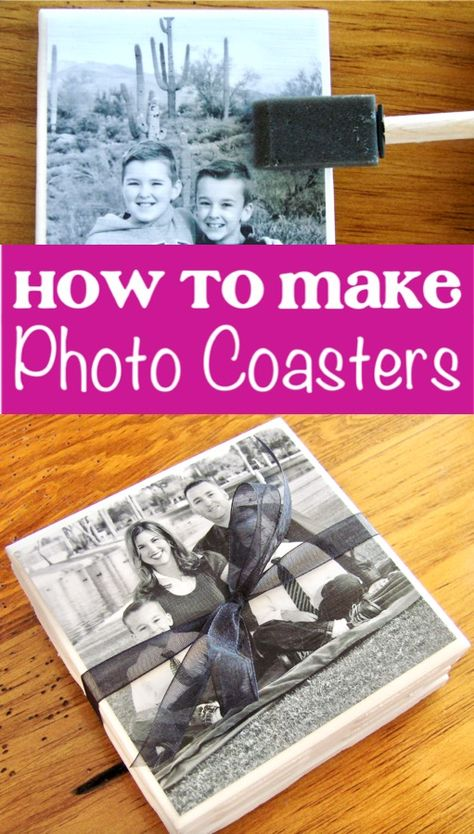 How to Make Photo Coasters! {fun gift idea} - The Frugal Girls