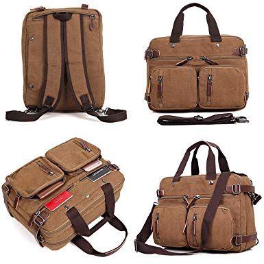 Clean Vintage Hybrid Laptop Backpack Messenger Bag