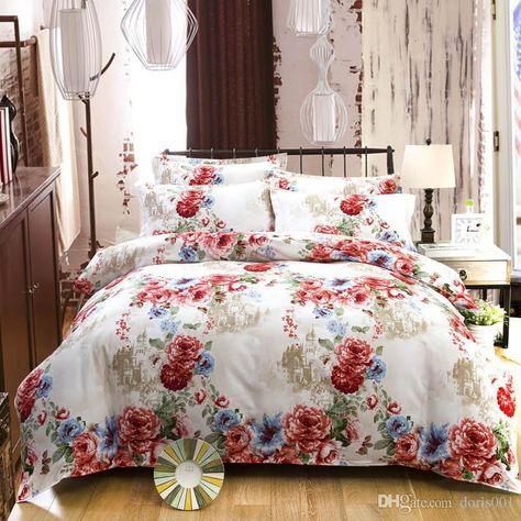 db641aea47d6 wholesale Flocked cotton bedding set bedclothes sets bed sheet ...