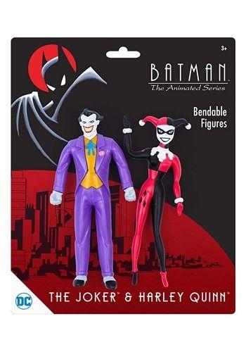 BATMAN ANIMATED Series BENDABLE Set JOKER Robin HARLEY Quinn TAS NJCroce NEW!