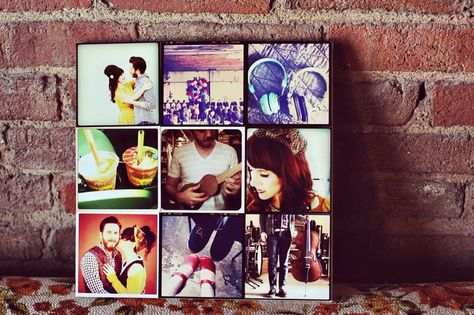DIY INSTAGRAM CANVAS WALL ART  It looks quick and easy to do.