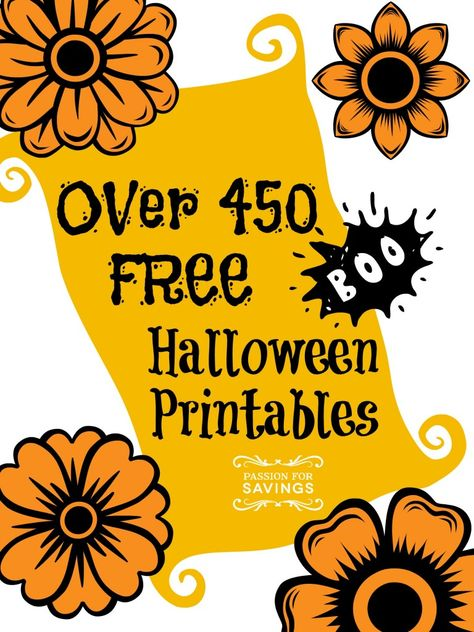 Over 450 FREE Halloween Printables to Download! Great kids activities.