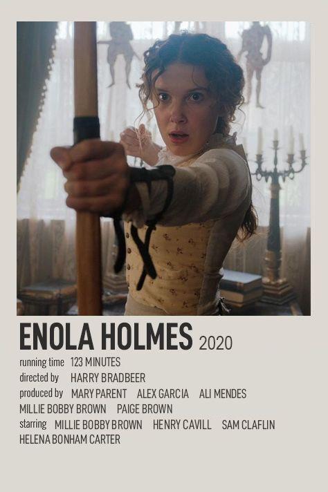ENOLA HOLMES POLAROID MOVIE POSTER