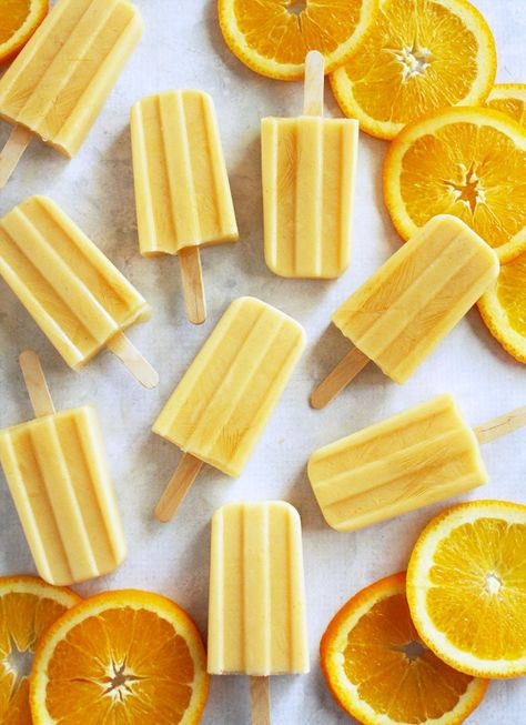 Cool off with these vibrant, naturally sweet Healthy Creamsicles from @PortandFin in honor of #NationalCreamsicleDay.