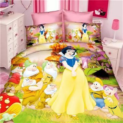 Disney Snow White Princess Girls Bedding Set Duvet Cover Bed Sheet Pillow Cases