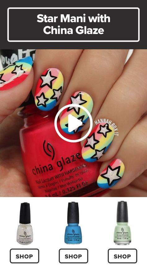 Make Your Nails the Star with This Cool Manicure #darbysmart #beauty #nailpolish #nailart #naildiy #naildesign #nailtutorial #NailArtIdeas