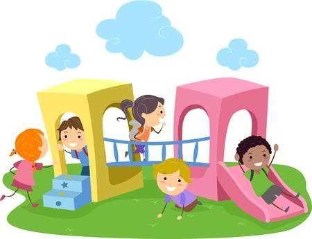 Ilustracion De Ninos Jugando En Un Parque Infantil Dibujo De Ninos Jugando Imagenes Animadas De Ninos Ninos Jugando