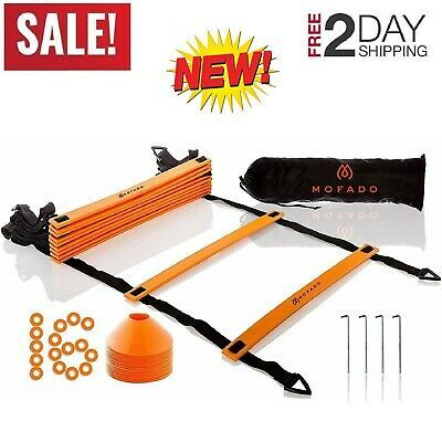 Advertisement Ebay Agility Ladder And 16 Cones Speed Training Equipment Basketball Football 20 Feet With Images Agility Ladder Training Equipment Speed Training