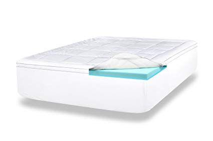 Viscosoft 4 Inch Queen Luxury Dual Layer Gel Infused Memory Foam Mattress Topper Includes Qu Foam Mattress Topper Memory Foam Mattress Topper Mattress Topper