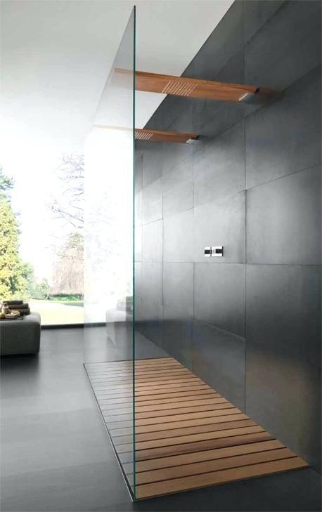 Shower Wood Floor Teak Wood Shower Floor Mats Teak Shower Floor Grate One Wall Glass Wooden Contemporary