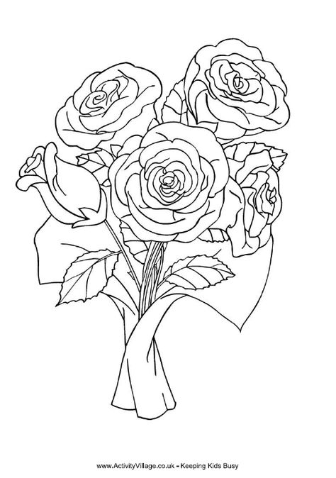 Dessins Gratuits à Colorier Coloriage Roses Page 3 à Imprimer Et