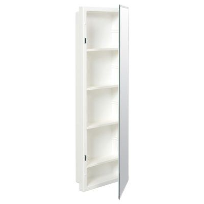Orren Ellis Ginnifer 12 X 36 Recessed Medicine Cabinet With 4 Adjustable Shelves Recessed Medicine Cabinet Adjustable Shelving Shelves