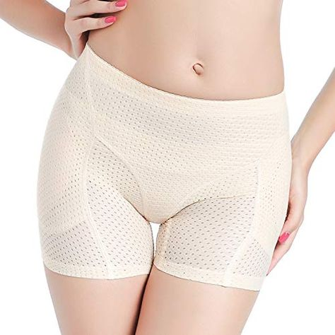 33dbeb9e0 Defitshape Women s Butt Lifter Shapewear Panties Padded Hip Enhancer  Seamless Shaper Shorts
