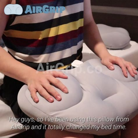 """⭐⭐⭐⭐⭐ - """"WOW! This pillow will be the last pillow I will ever buy. The micro balls actually work. No more tossing and turning!"""" - Eric B. ✅ Filled with 8 million Micro Air Balls ✅ Adjustable to all weights ✅ Breathable material for maximum air flow ✅ Machine washable See Full Features & Benefits ➡️ airgrip.co/pillow Shop Today & Save 40% + Free Shipping!"""