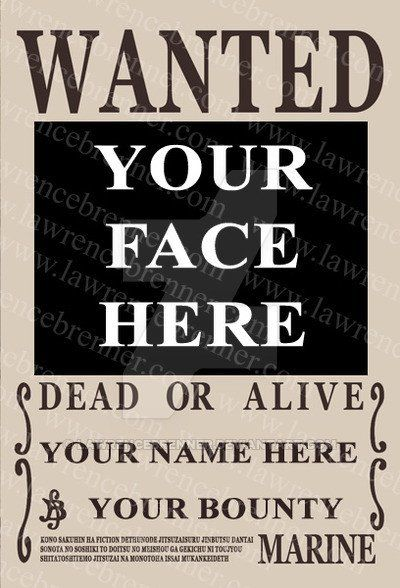 One Piece Wanted Poster Template Awesome E Piece Bounty Poster