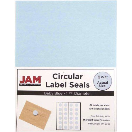 Jam paper 1 1 2 inch circle label sticker seals baby blue 120 pack circle labels label stickers and walmart