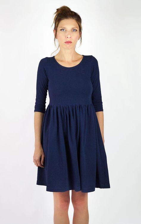 efd408d16d Granatowa sukienka