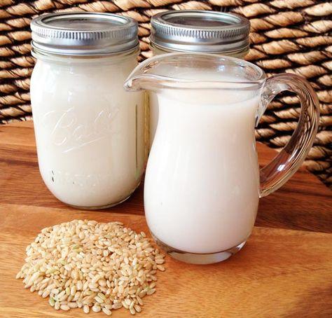 receta de leche de arroz para adelgazar