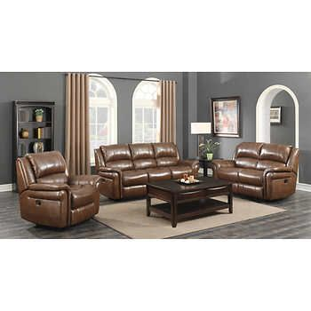Leather Recliner Sofa Set Costco