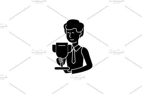 Science grant black icon, vector