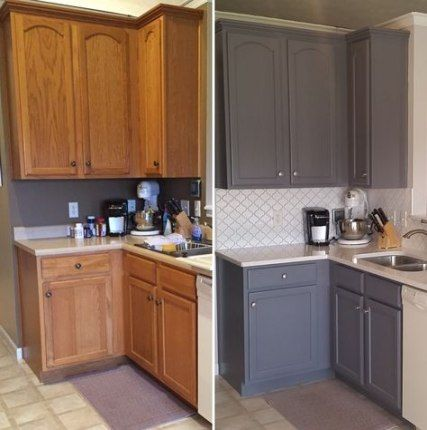 Trendy Kitchen Paint Before And After Oak Cabinets Ideas Kitchen Cabinets Before And After Best Kitchen Cabinets Kitchen Cabinets Painted Before And After