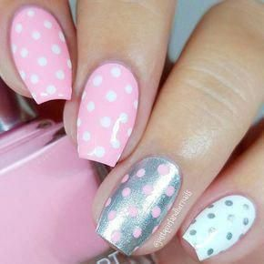 Cute Easter Polka Dots ❤️ We have covered the best Easter nails art in this article for your inspiration! ❤️  #naildesignsjournal #nails #naildesigns #easternails
