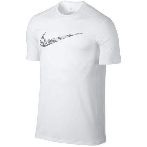 3f897edb Men's Nike Swoosh Tee ($28) ❤ liked on Polyvore featuring men's fashion, men's  clothing, men's shirts, men's t-shirts, white, mens leopard print t shirt,  ...