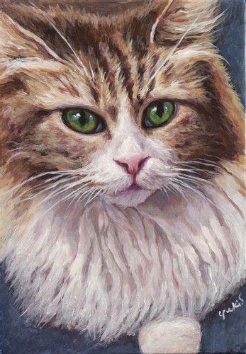 noble visage ノーブル ヴィサージュ 猫 絵 絵 アクリル絵具