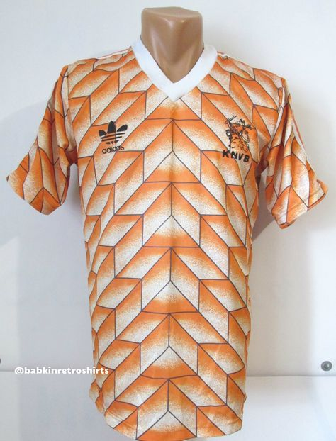Details about Holland Van Basten Netherlands Adidas Adult S Shirt Jersey Football Soccer 1980s
