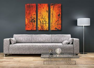 Amber Nights   Contemporary Abstract Wall Art By Sam Freek #orange  #abstract #wallart
