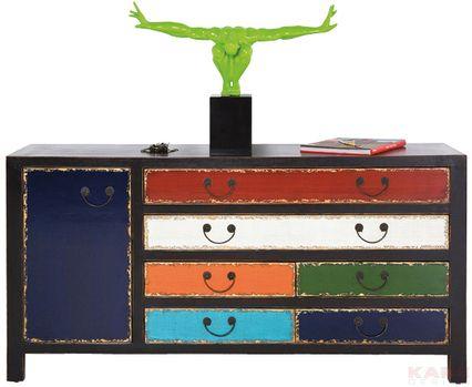 Kare Harlekin sideboard harlekin black 6 drawers 1 door things i want