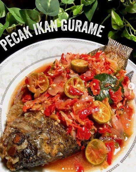 Pecak Ikan Gurame Resep Masakan Masakan Resep