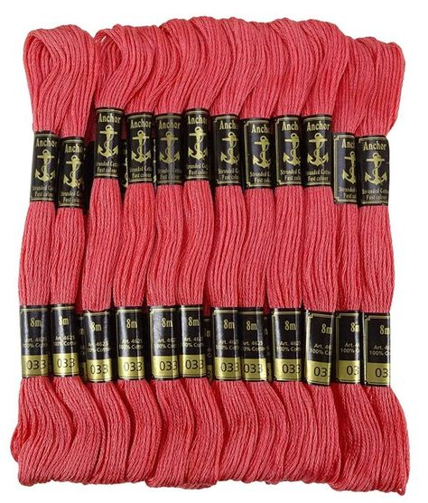 120 Anchor Cross Stitch Embroidery Cotton Thread Floss//skeins in Solid Colors US