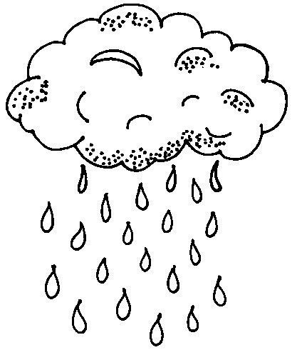 Lluvia Para Colorear Coloring Pages For Kids Free Kids Coloring