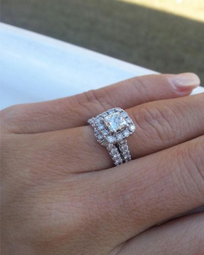 Curved Wedding Band To Fit Engagement Ring Diamond Bridal Ring Sets Curved Engagement Rings Bridal Ring Set