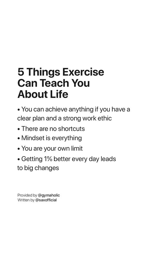 5 Things Exercise Can Teach You About Life