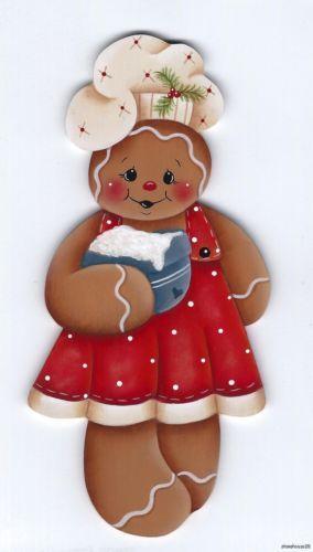 GINGERBREAD Girl Baker -  Based on a Renee Mullins design... handpainted by Pamela House