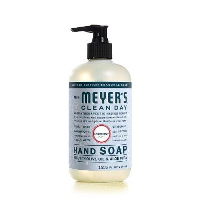 Mrs Meyer S Snow Drop Hand Soap Target Cleaning Day Soap