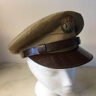 Original Korean War Era Us Army Khaki Overseas Infantry Men S Hat Cap Size 6 7 8 Ebay Hats For Men Mens Hat Caps Korean War