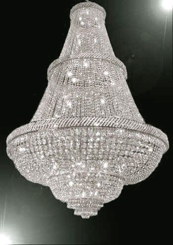 French Empire Crystal Chandelier Lighting 6Ft Tall! - Perfect For An Entryway Or Foyer! - A93-Silver/448/48