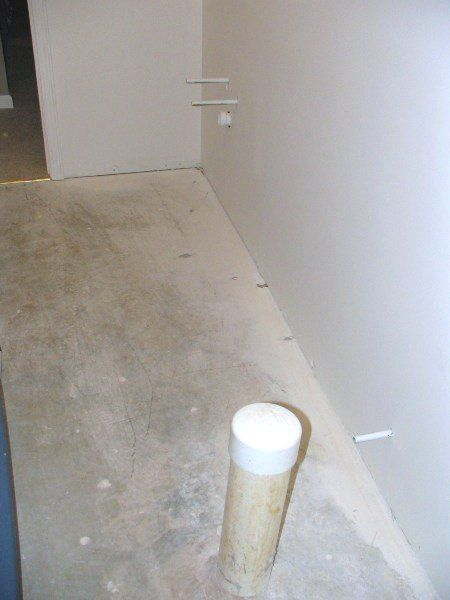 Finishing A Basement Bathroom Plumbing Rough In For Vanity And