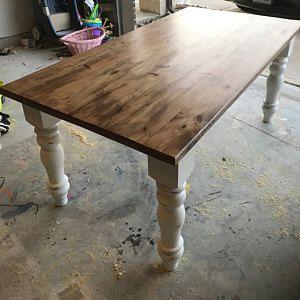 Unfinished Farmhouse Dining Table Legs Wood Legs Turned Legs Hardwood Chunky Wide Legs Large Dining Table Legs Farmhouse Dining Table Dining Table