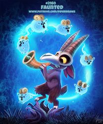 Daily Paint Faunted by Cryptid-Creations